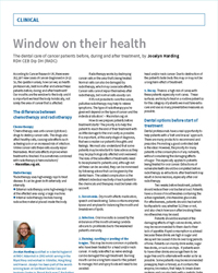 Window on their health