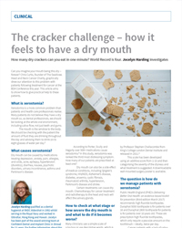 The cracker challenge – How it feels to have a dry mouth.