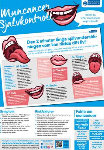 Mouth Cancer Poster - Swedish