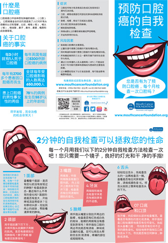 Mouth Cancer Foundation Materials in Foreign Languages