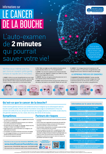 Mouth Cancer Facts Poster 2 Minute Check Final - French
