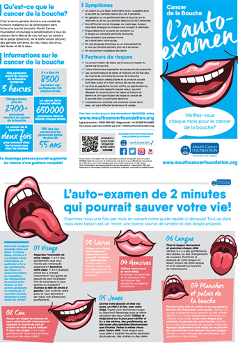 Mouth Cancer Leaflet - French