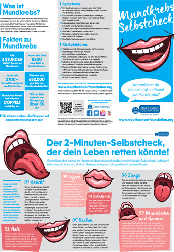 Mouth Cancer Leaflet - German