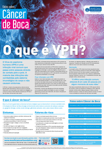Mouth Cancer Facts Poster HPV Final - Portuguese
