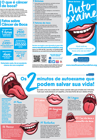 Mouth Cancer Leaflet - Portuguese