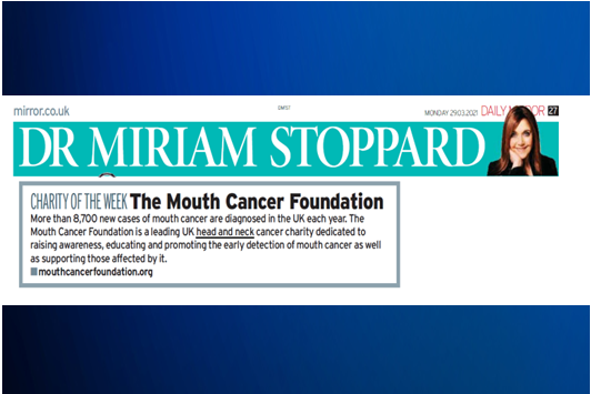 MOUTH CANCER FOUNDATION IN THE MIRROR